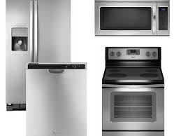 Stainless Kitchen Appliance Packages Kitchen 4 Piece Stainless Steel Kitchen Appliance Package 00023