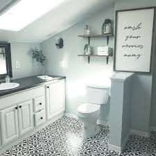 a diy stenciled bathroom tile floor using the augusta tile stencil from cutting edge stencils