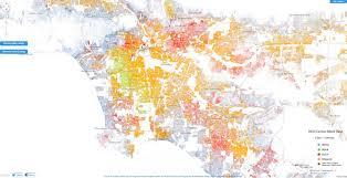 racial dot map in la highlights segregation by neighborhood  huffpost