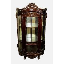 Jasper Curio Cabinet D Art Collection Rococo Curio Cabinet Wayfair