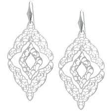 chandelier cut out sterling silver filigree mobile dangle earrings template chandelier cut out