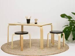 mini furniture. Mocka Hudson Mini Table With Kids Stool And Swirl Rug Furniture T