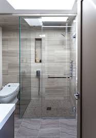 shower tile floor Bathroom Contemporary with bathroom glass shower