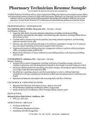Pharmacy Tech Resume Template Pharmacy Technician Resume Sample Tips Resumecompanion