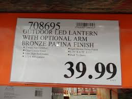 outdoor led lantern altair lighting outdoor blinking costco 5 5 full size