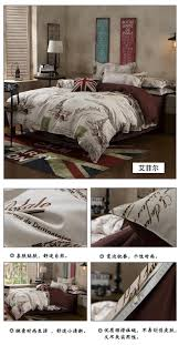 the nordic style bedding set 4pcs duvet cover set twin full queen size bed set printed