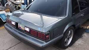 87 Ford Mustang 4cyl Turbo with Carven mufflers - YouTube