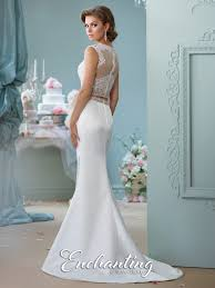 Satin Two Piece Wedding Dress 116131 Enchanting By Mon Cheri