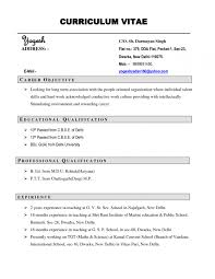 Resume Examples Curriculum Vitae Resume Luxury Cv Sample Free Career