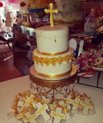Baptism Cake White Gold Wwwcarinaedolcecom Wwwfacebookcom