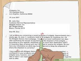 how to write a professional letter 4 ways to write a formal letter wikihow
