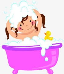 take a shower clipart. Exellent Take A Girl With Bath And Shampoo Take A Shower Bath Wash In Shower Clipart