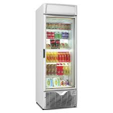 framec ex500pt upright glass door display fridge white glass door