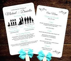 free wedding program fan templates best photos of able for microsoft word