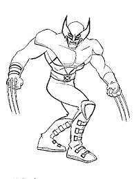 Small Picture X man Wolverine Coloring Pages xman Pinterest