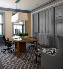 Gray Home Office Furniture Designs Ideas Plans Design