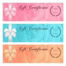 Gift Certificate Voucher Template Gift Certificate Voucher Coupon Reward Or Gift Card Template With 17