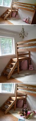 diy kids loft bed. Diy Camp Loft Bed With Stair Diy Kids Loft Bed