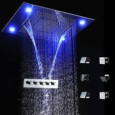 shower led lighting. 2018 Led Light Remote Control 600*800mm Shower Head Set Body System, Bathroom Spa Rain Thermostatic Mixer From Jmhm, $1746.08 | Dhgate.Com Lighting