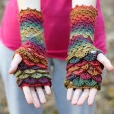 Dragon Scale Fingerless Gloves Pattern Free Awesome Decorating Design