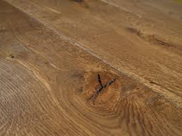 tradition aged oak flooring in kitchen floorboards with open knots