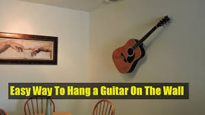 on metal wire guitar wall art with easy way to hang a guitar on the wall decorative purposes youtube