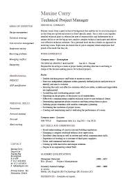 Assessment Example Sample Resume Of A Project Manager Technical Project Manager Resume ...