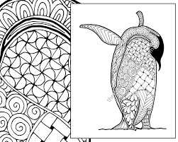 Small Picture penguin coloring sheet animal coloring pdf zentangle