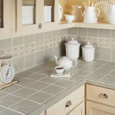 kitchen tiles countertops. Exellent Kitchen Grey Tiles On The Backsplash And Countertops With Beige Grout With Kitchen Tiles Countertops N