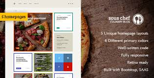 Sous Chef Recipe Culinary Cooking Template For Blog Website By