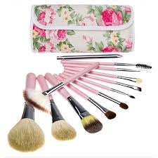 travel cosmetic brushes makeup artist bag brushes organizer cosmetic makeup brush set kit with rose flower bag in makeup scissors from beauty health on