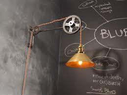 industrial style lighting fixtures. Vintage Industrial Style Pulley Lamp Lighting Fixtures I