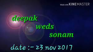 Deepak And Sonam Name - 1280x720 ...
