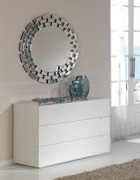 Lea, Modern Chest Of Drawers In White High Gloss