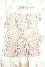 pink bathroom mats shabby chic bath mat blush ruffled roses how much do you want to
