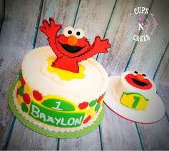 Elmo 1st Birthday Cake By Cups N Cakes Cakesdecor