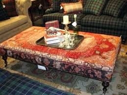 rug covered ottoman use a discarded oriental rug to cover your ottoman or create your own