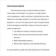 what is a critical essay example sample analysis template  what is a critical essay example 12 sample analysis template 8 documents in pdf