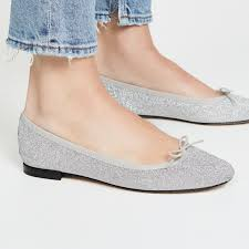 the daily hunt sparkly silver ballet flatore