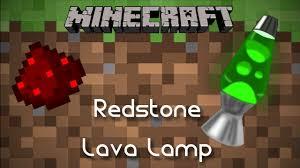 Redstone Lava Lamp Minecraft Redstone Tutorial Youtube