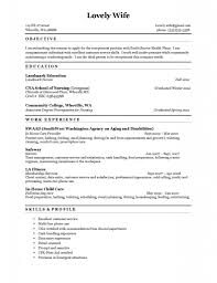 Sample Cna Resume With No Experience Examples 2017 Pics Resume