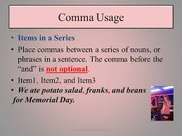 Comma Usage By Alfred Taylor 1www Booksbyalfredtaylor Com