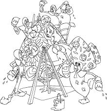 Alice In Wonderland Character King And Queen Of Heart Coloring