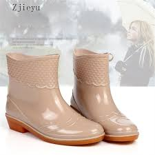 garden boots for women. Wonderful Garden 2018 Women Fashion Short Barrel Rain Boots PVC With Cotton Warm Liner Garden  Waterproof Bot Anti Skid Shoesin MidCalf Boots From Shoes On  On For Women E
