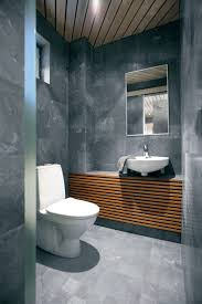 image unique bathroom. Finest Design Stony Wall Wooden Ceiling Unique Bathroom Interior Image