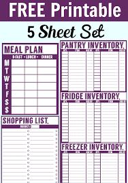 Free Printable Set Fridge Pantry Freezer Inventory More