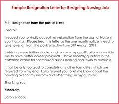 Nurse Resignation Letter Extraordinary Nursing Resignation Letters Colbroco