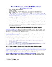 Sample Teen Resume Teenage Resume Resume Badak 82