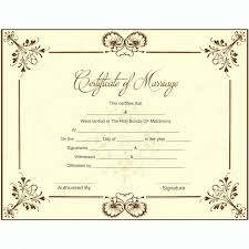 Marriage Certificate Template Microsoft Word Awesome Blank Wedding