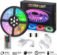 Sanlinkee Led Strip Lights Flexible Led Light Strip Kit Color Changing Rope Light With Remote Controller Rgb Led Light Strip 5050 Led Tape Lights For